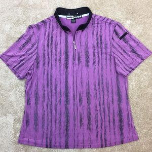 ⛳️ JAMIE SADOCK Purple & Black 1/4 Zip GOLF SHIRT